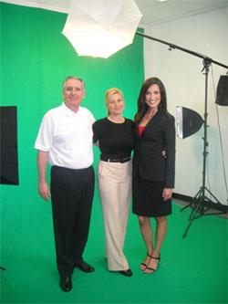 Joseph E. Meyer and Katia Billeci Production Manager of USO Networks.com and Lisa Hayward